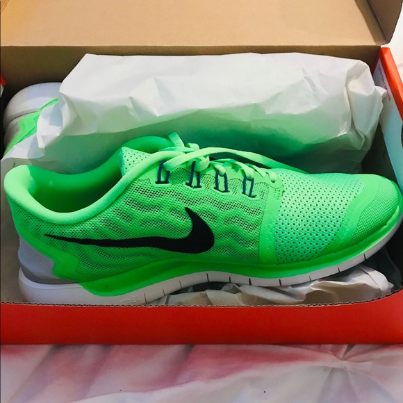sports shoes f0220 6d80e Neon Green Women s Nike Free 5.0 Running Shoes